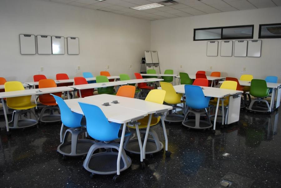 Redesigned classroom with moveable furniture at Monterrey...