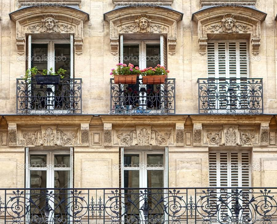Balconies - Parisian Architecture u2014 Photo by WDGPhoto