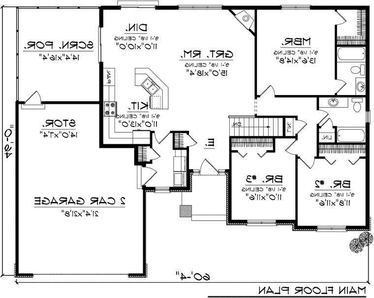 House plan 24966 at familyhomeplans house plan 24966 at for Family home plans 82230