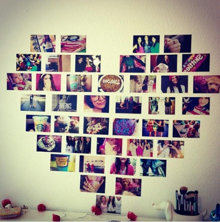 Decorating Ideas > Dorm Room Photo Wall ~ 152739_Seventeen Magazine Dorm Room Ideas