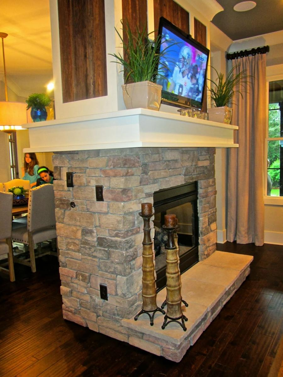 Two Sided Fireplace Designs Photos