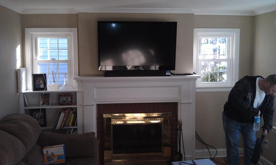 Tvs Above Fireplaces Photos