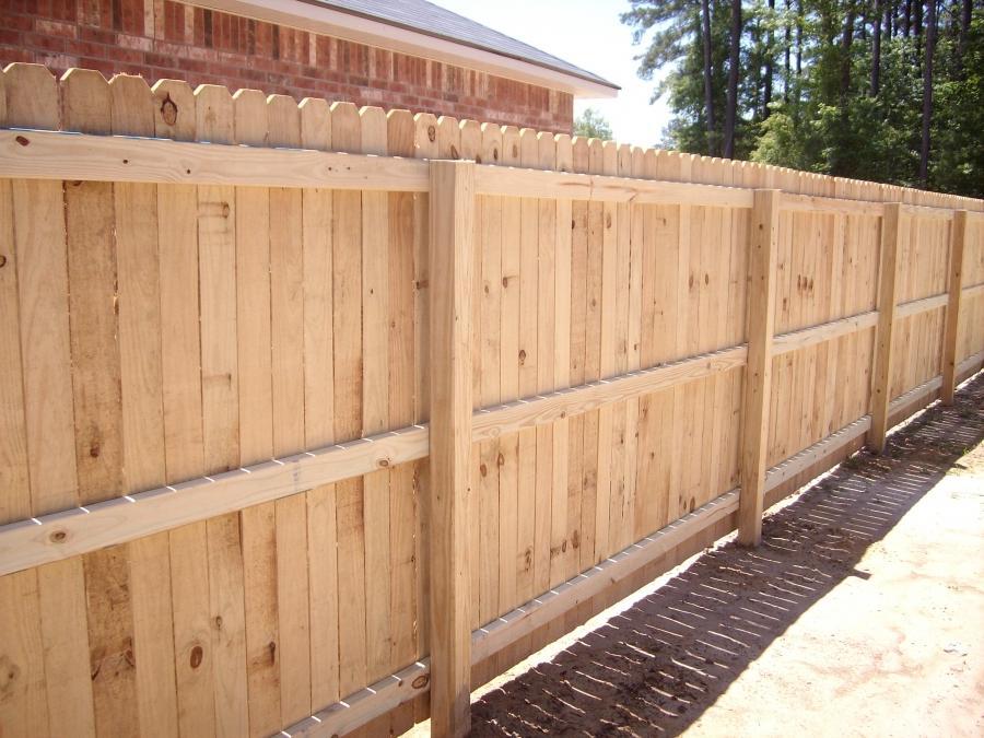 Pine Wood Fence Photos
