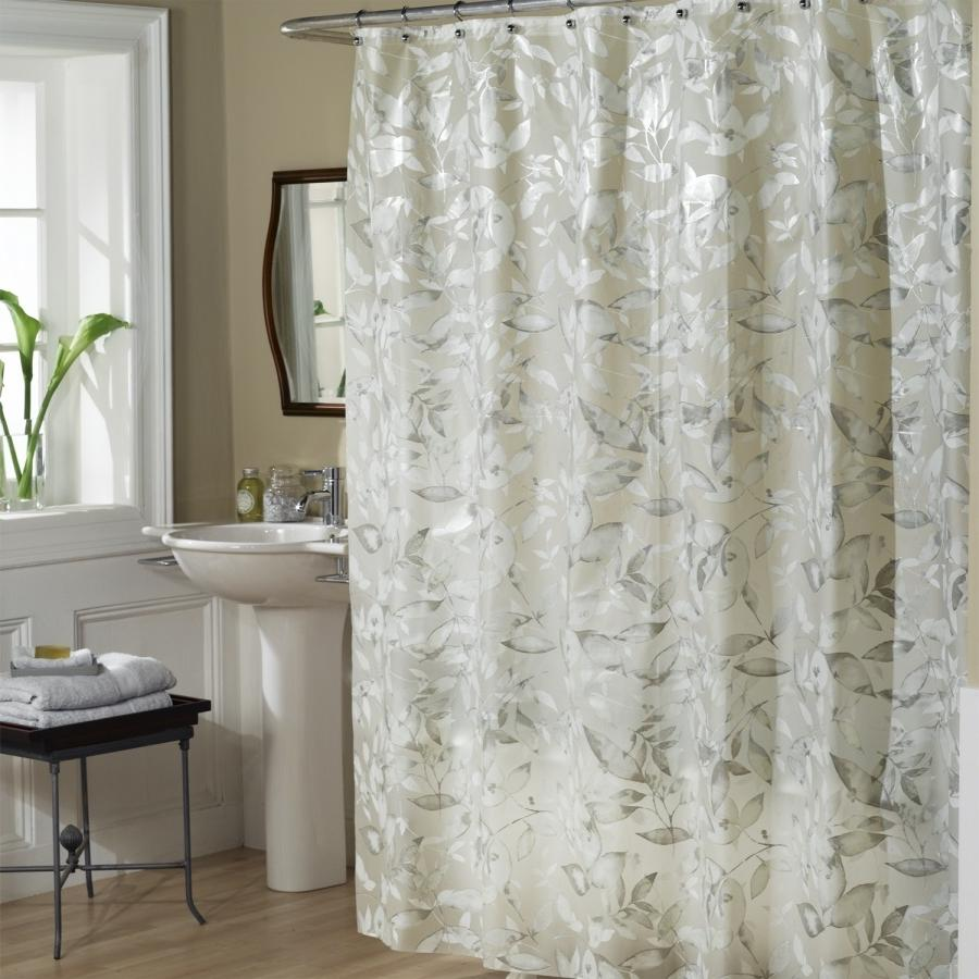 Excell Tea Leaves Vinyl Shower Curtain