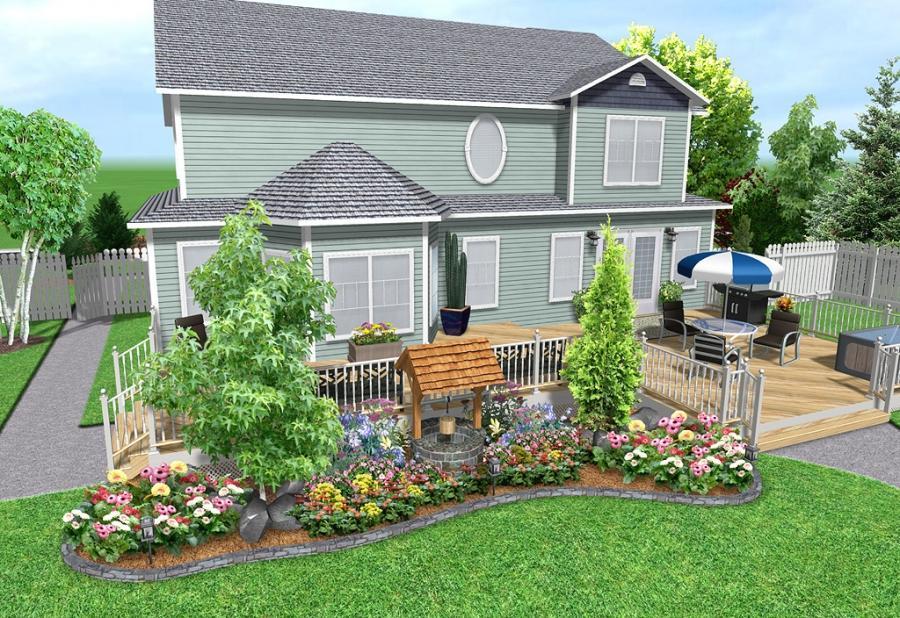 picket fence front yard photo landscape design. Black Bedroom Furniture Sets. Home Design Ideas