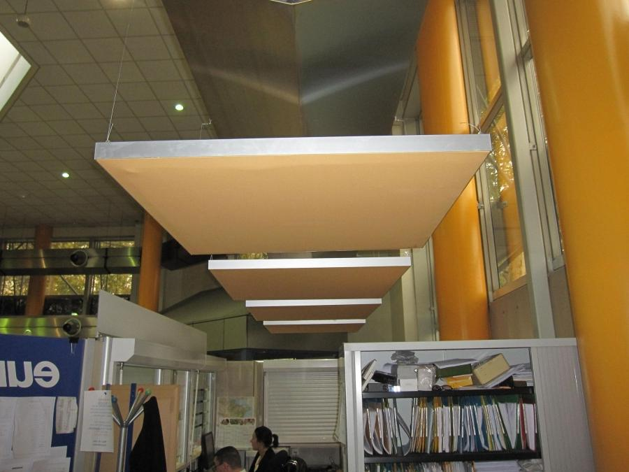Acoustic suspended ceiling tile / fabric-covered - CAPTEUR...