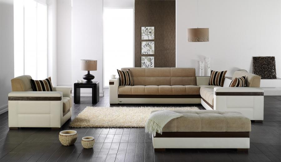 European Styled Modern Sleeper Sofa - MOON Sectional Sofa