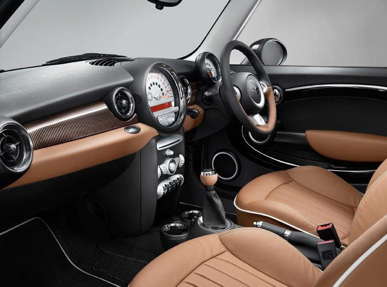 Mini Cooper with optional black leather interior