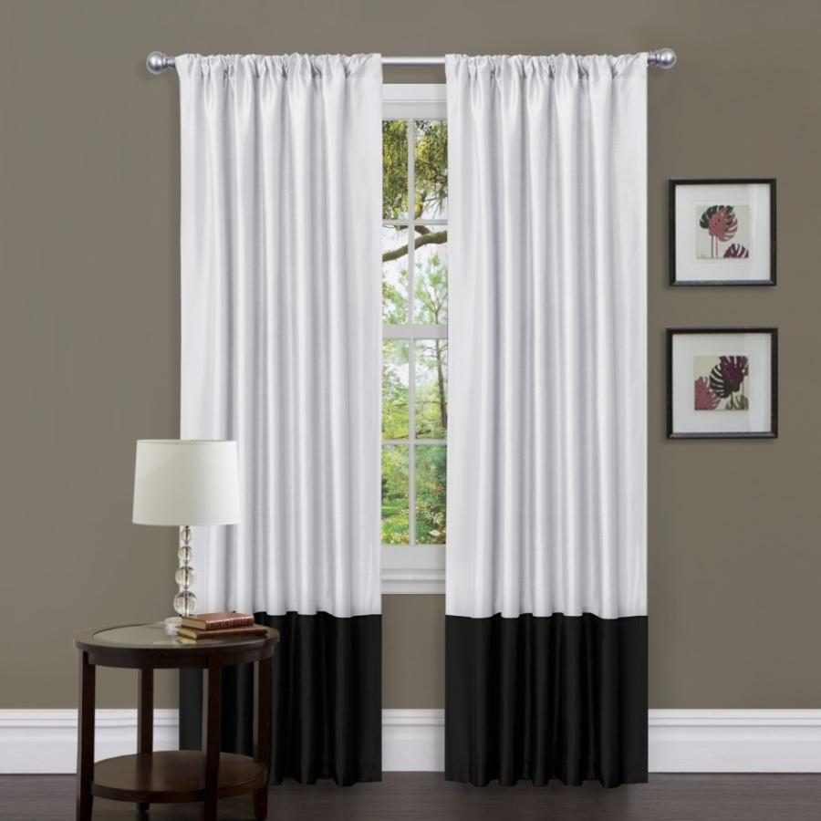 Beautiful White Curtain for Bedroom and Bathroom : Black And...