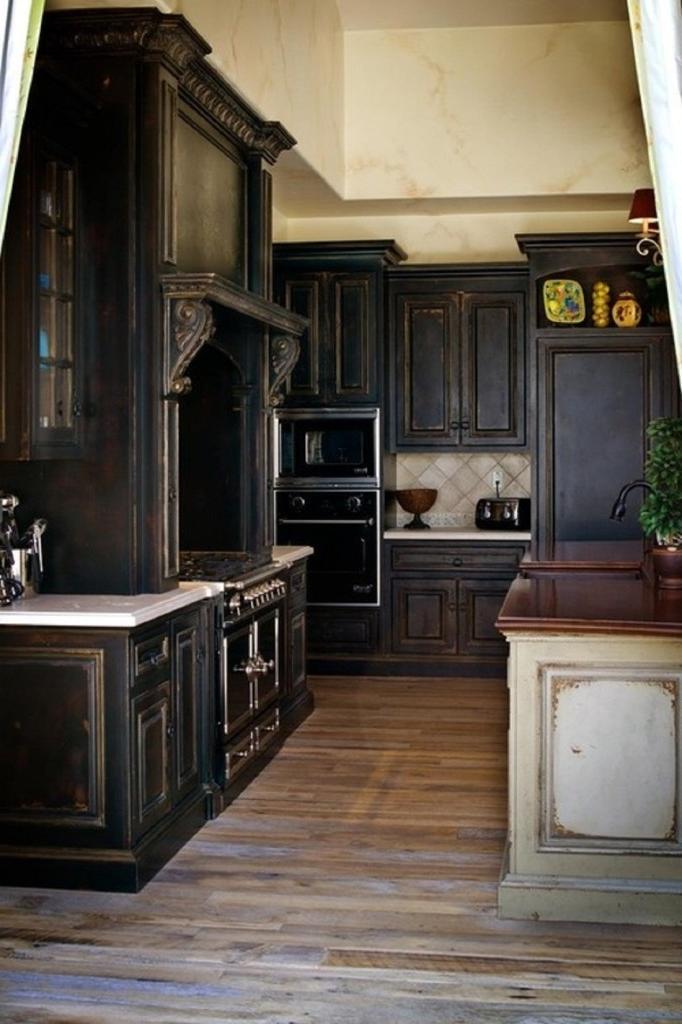 Black Kitchen Cabinet Photos