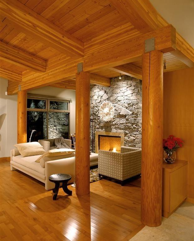 Unusual Cabin Designs : Log cabin interior design photos