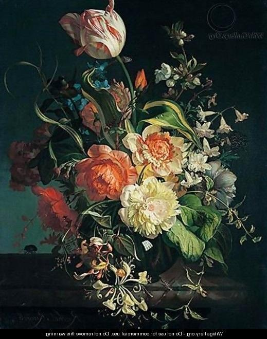 Still life of flowers - Rachel Ruysch - WikiGallery.org, the...