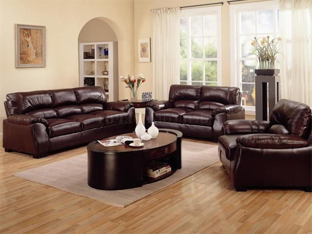 Photos Of Living Rooms With Leather Sofas