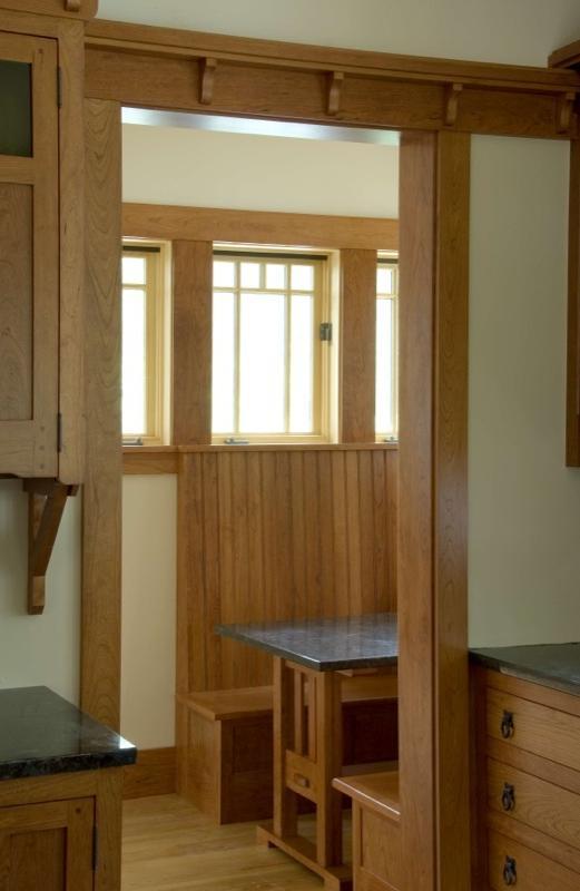 Bungalow room addition photos for Craftsman interior design elements