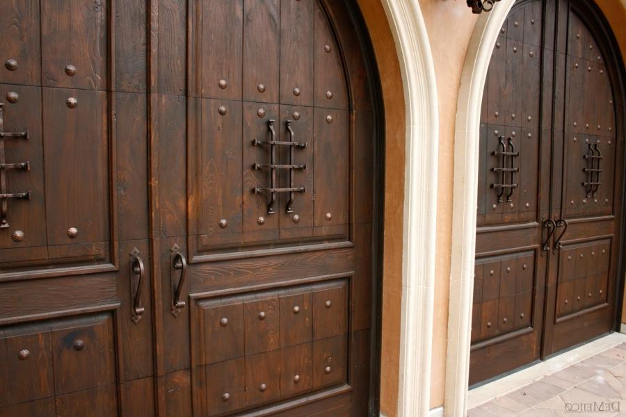 These garage doors, made to look like original doors, carry an...