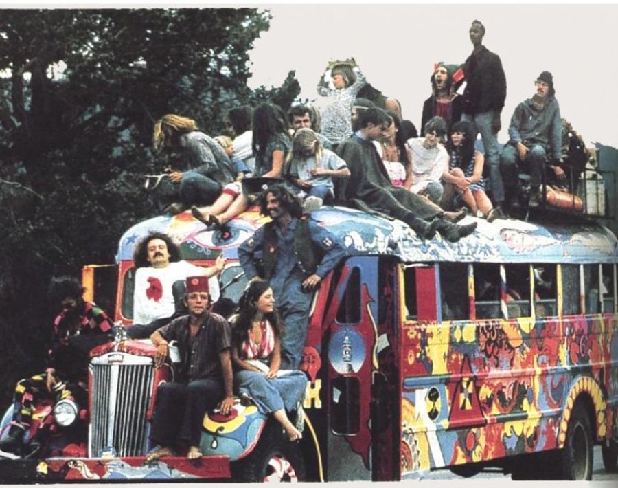Hippie history bus