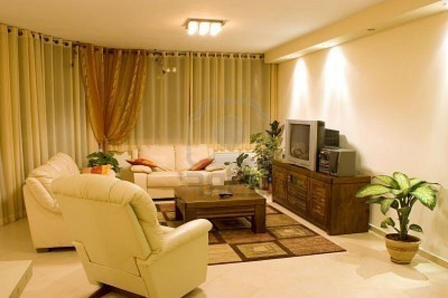 sleek sweet living room suite of casual furniture interior stock
