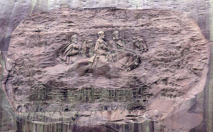 Stone mountain carving photo