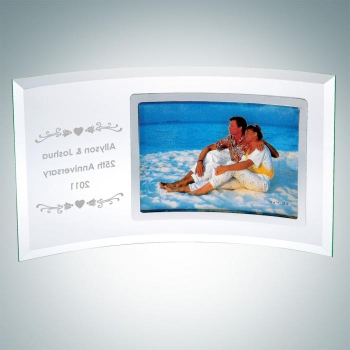 Curved Horizontal Silver Photo F