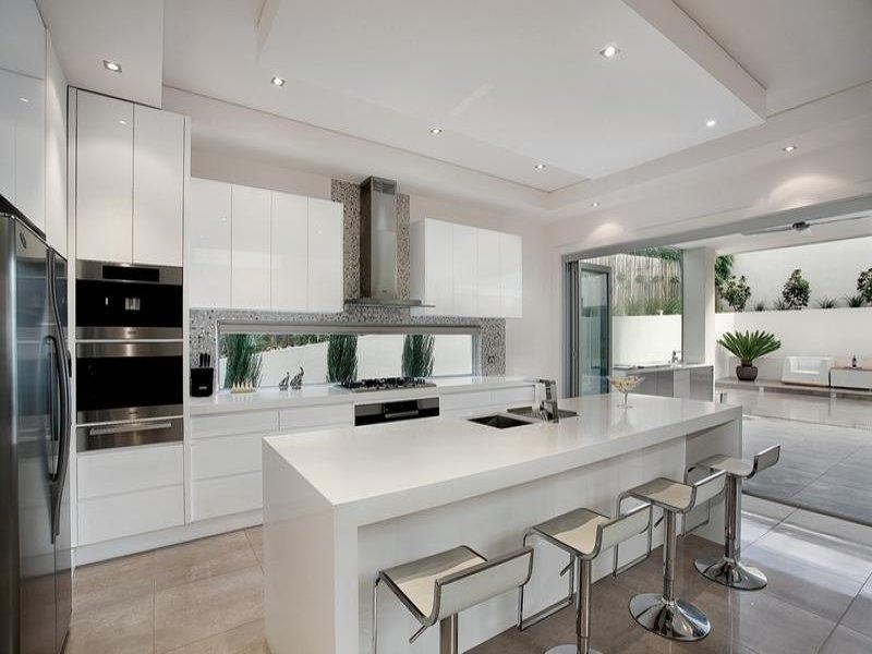 Modern island kitchen design using marble - Kitchen Photo 122754