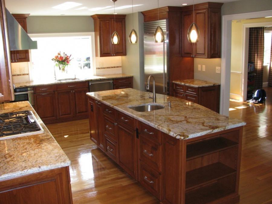 Cherry Cabinets Kitchen Photos