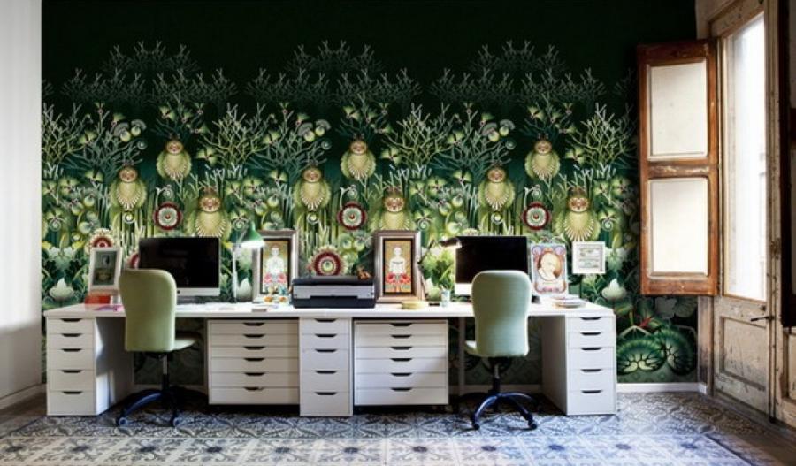 own photo mural wallpaper. Black Bedroom Furniture Sets. Home Design Ideas