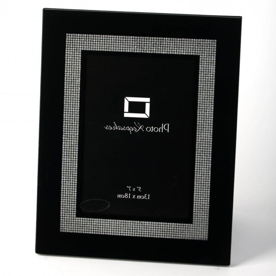 large black glass photo frames