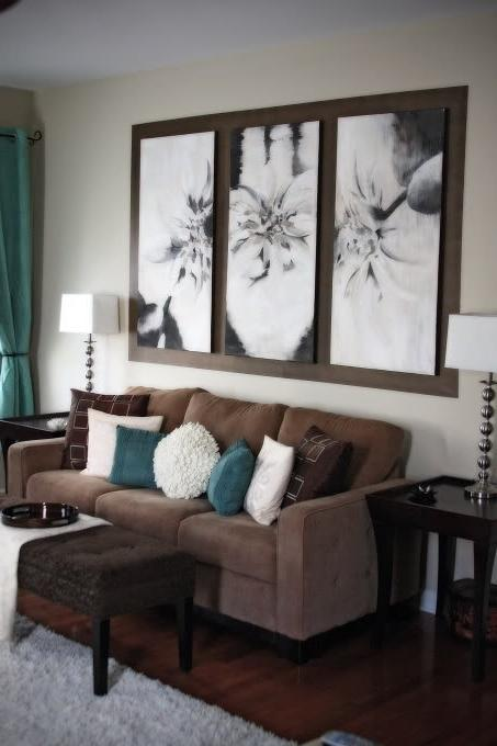 living room color scheme cream brown blue muchpics source