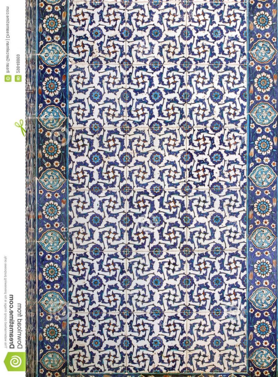 Tile wall decoration of Rustem Pasha Mosque, Istanbul