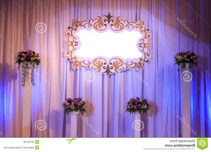 Luxury Indoors Wedding Stage Decorate.