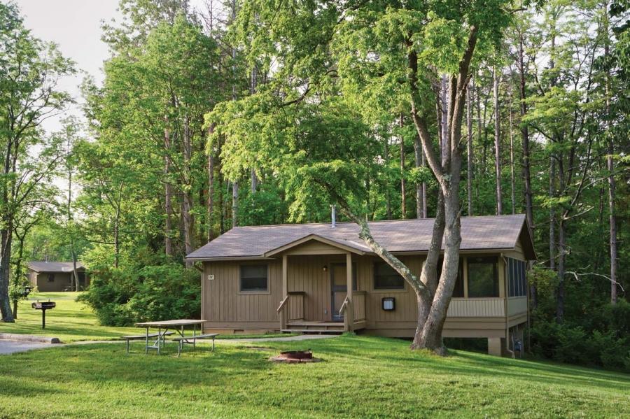 Photo cottage woods