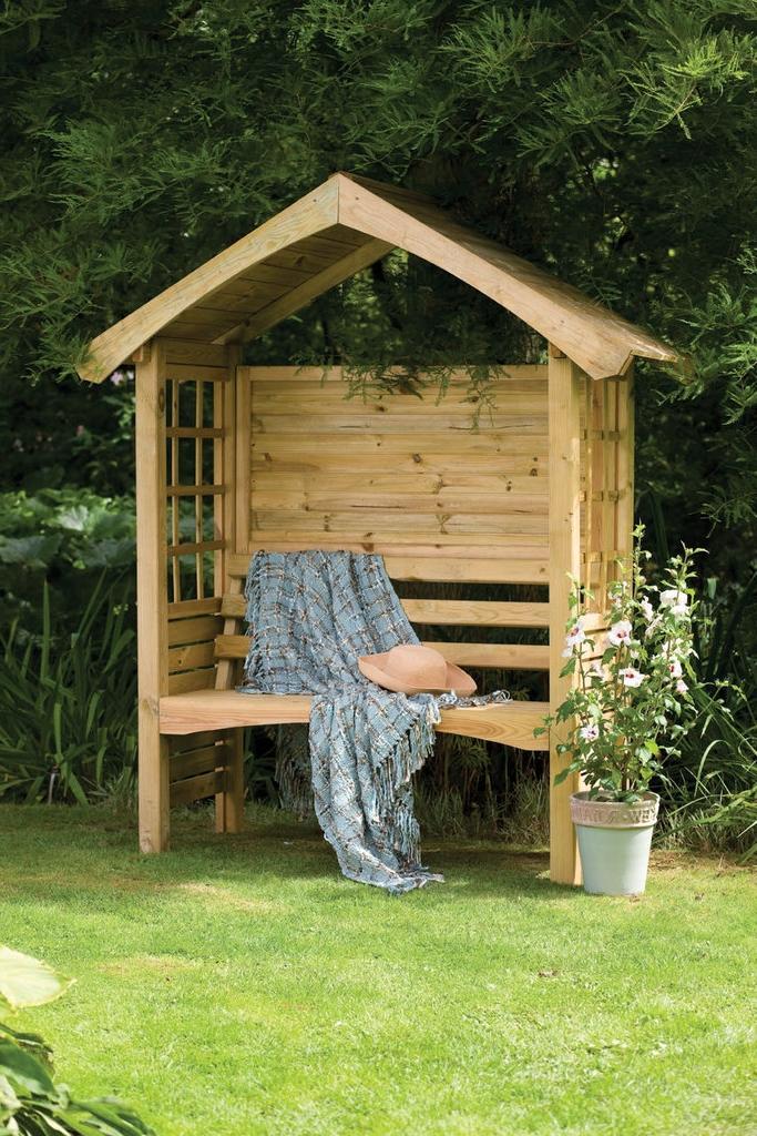 Arbour design photos for Wooden garden arbour designs