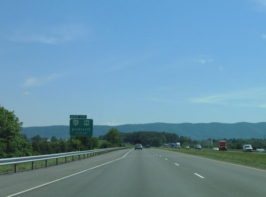 The next exit along southbound Interstate 81 is Exit 296,...