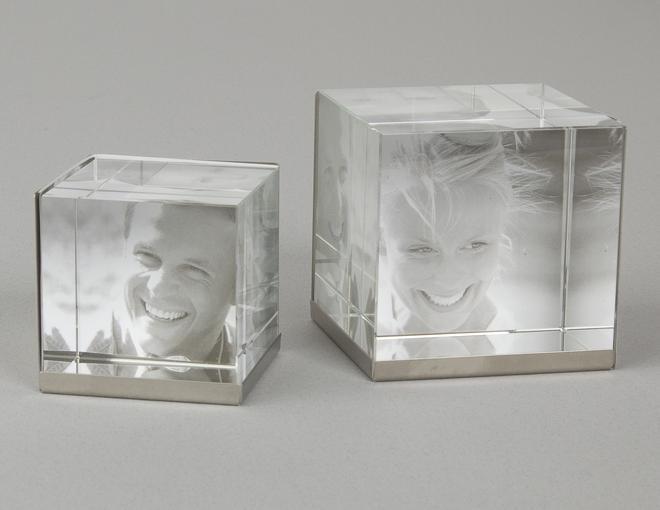 Crystal glass photo frames