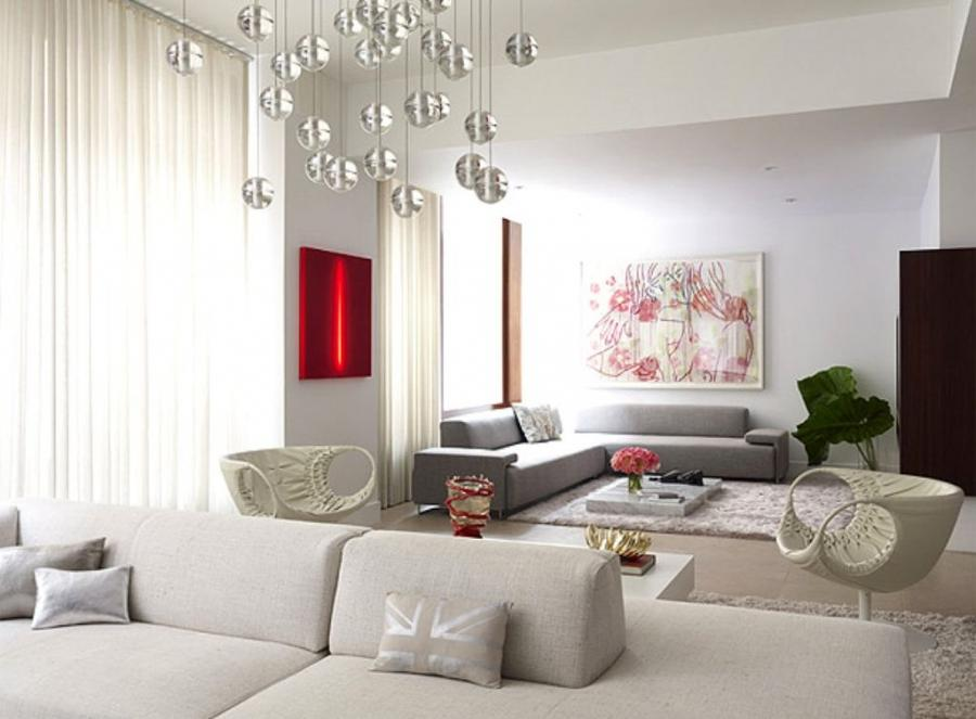 Modern Apartment Decoration Luxurious Living Room Flat Apartment...