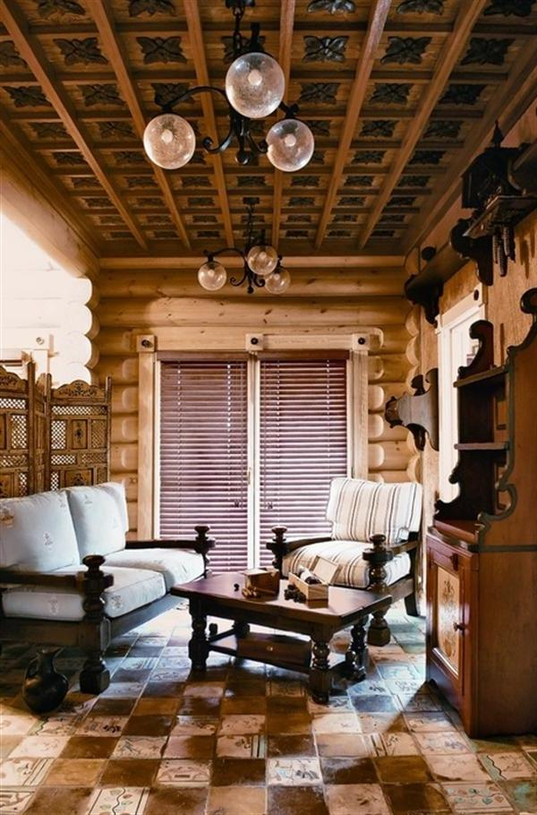 Classic Ceiling Design In The Classic House In Siberia listed in:...