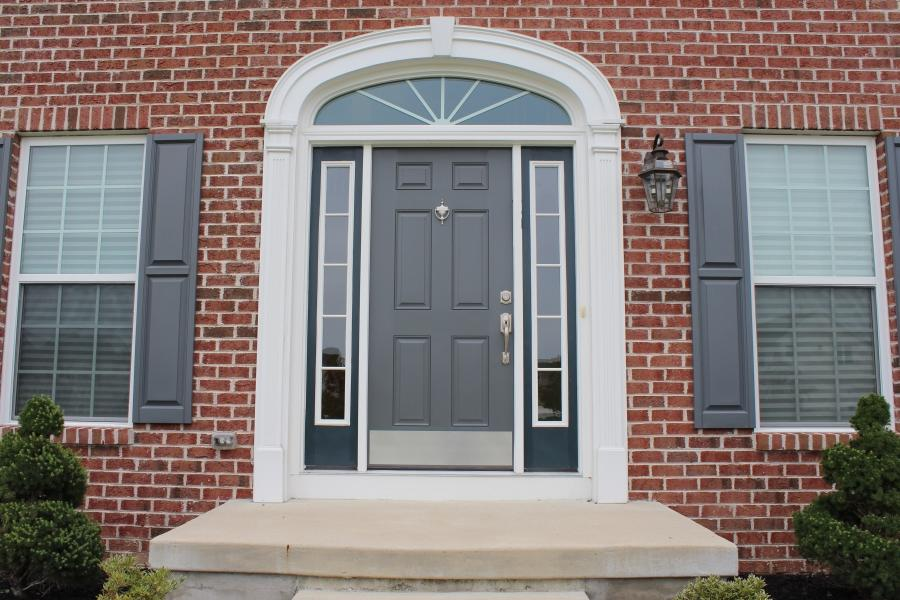 Try to look at this new design of front door finished. This is...