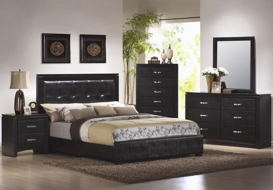 Photos of bedrooms with black furniture for Black master bedroom furniture
