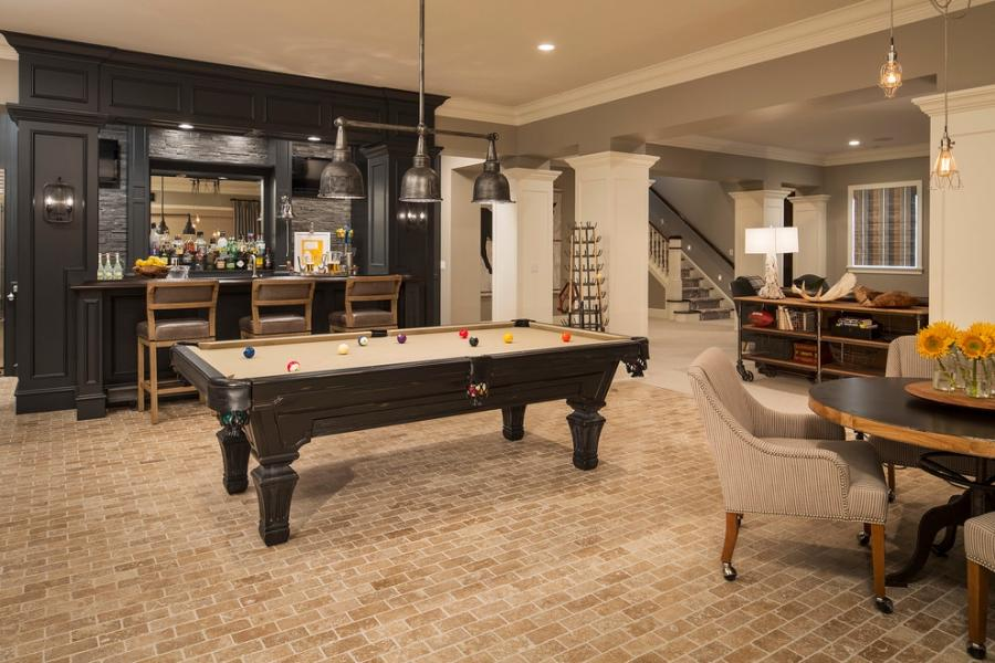Game room with pool table photos for Indoor game room ideas