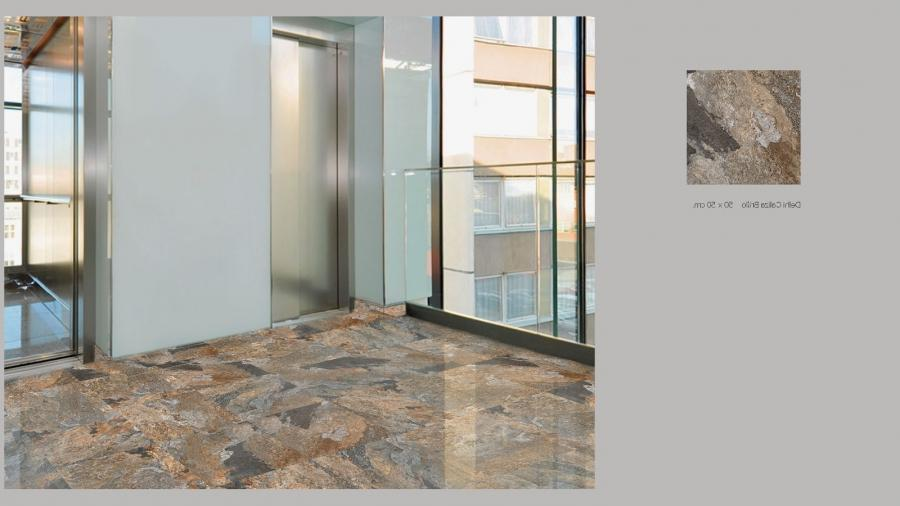 Ceramic tiles are laid on the subsurface using setting materials....