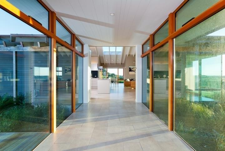 Hallway and Layout Ideas in Te Horo Wetland House Design in New...