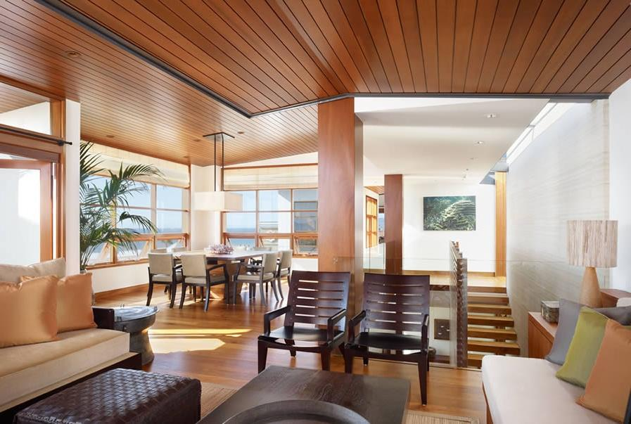 Modern Outlook of Tropical House Interior Wood Architecture