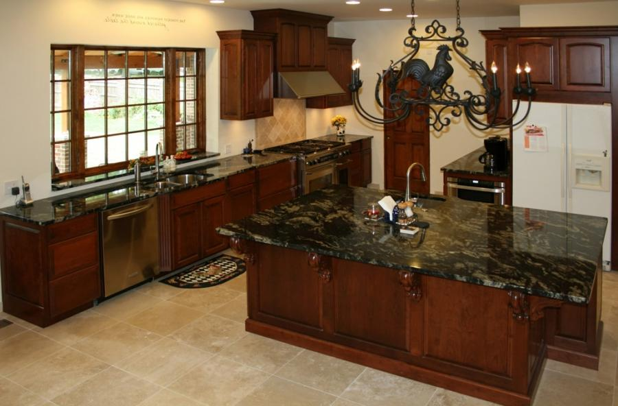 Cherry cabinets kitchen photos for Cheap kitchen cabinets st louis