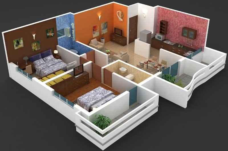 2 bhk flat interior design photos for Best interior designs for 3 bhk flats