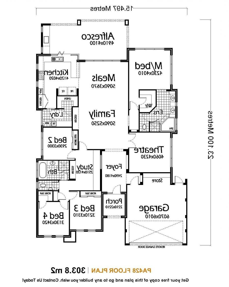 Single family house plans photos for Single family home floor plans