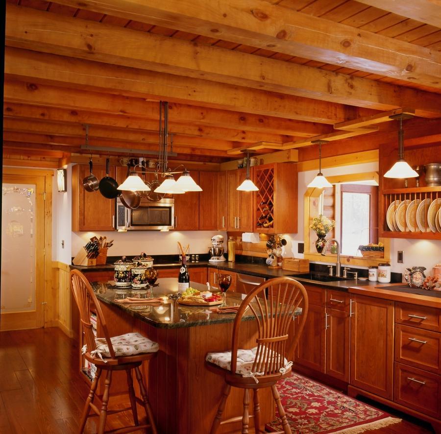 Log Cabin Kitchen Decor: Log Cabin Kitchens Photos
