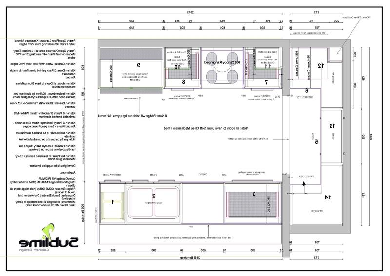 Kitchen plans photos for Floor plan drafting services