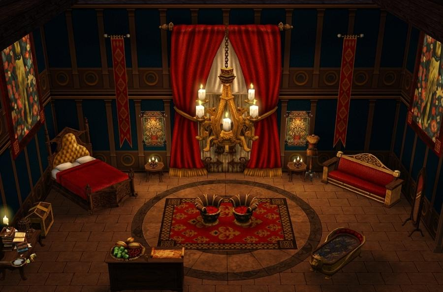 mod the sims p n new throne rooms source