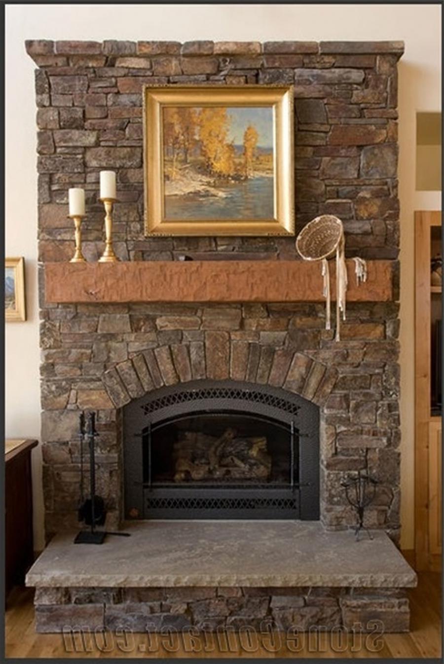 Red Brick Fireplace Photos