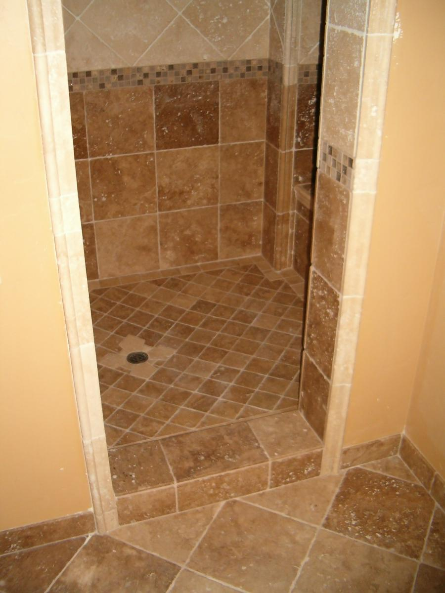 Glass tile accent bathroom remodel Burke Fairfax